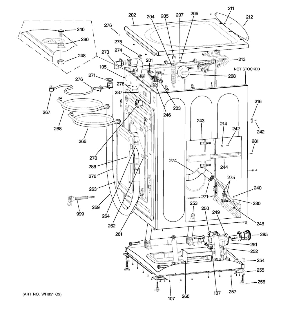 general electric washer parts diagram