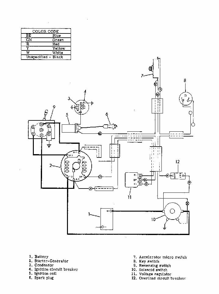 gas powered golf carts wiring diagram