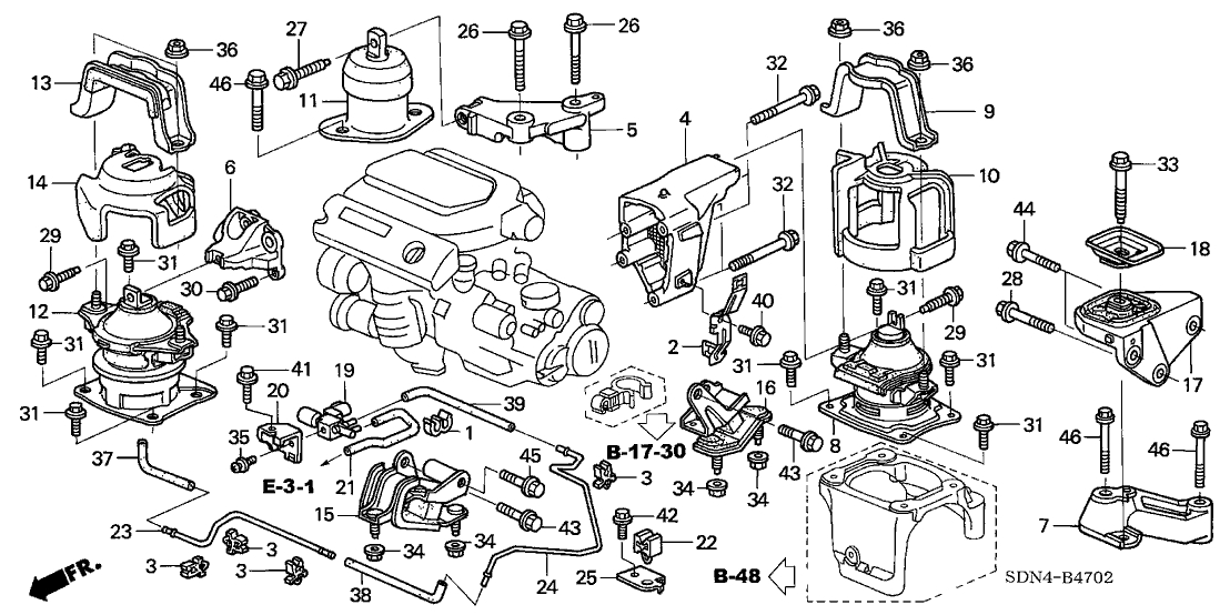 2001 honda accord v6 engine diagram