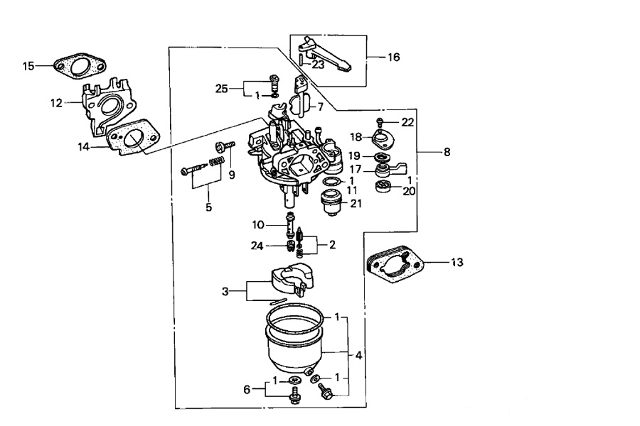 honda gx160 carburetor parts diagram on honda gx270 parts diagram