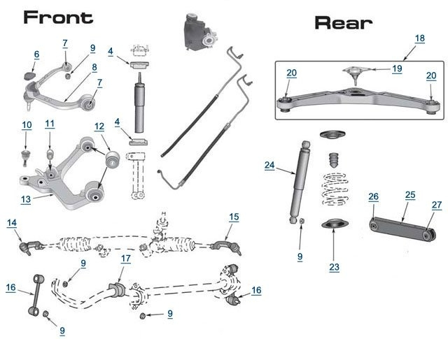 2004 jeep liberty door parts diagram