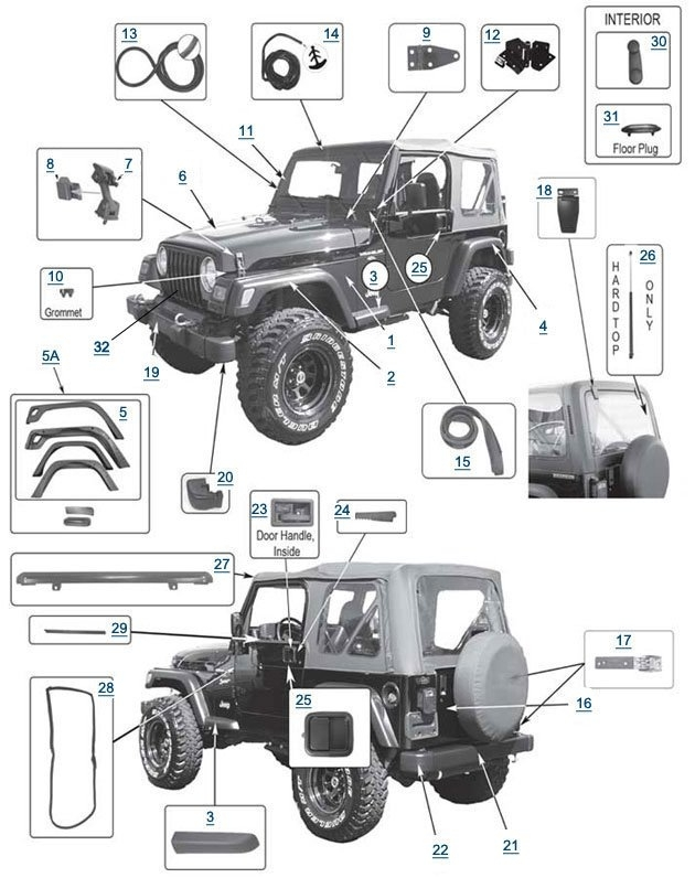 tj wrangler engine diagram