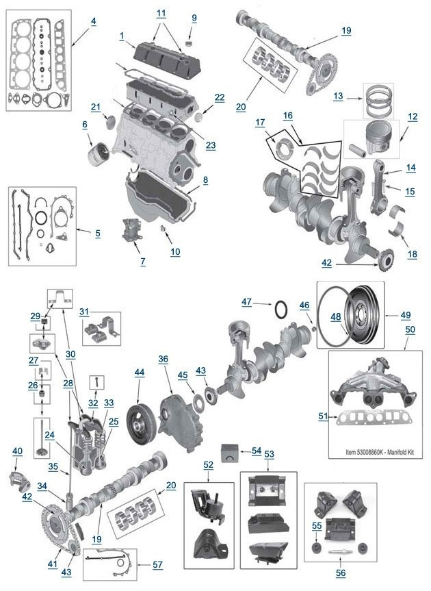 199jeep 2 5l motor diagram