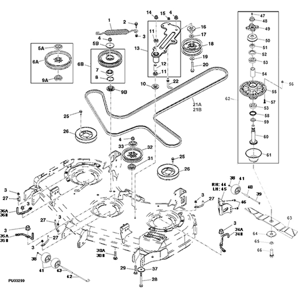john deere z425 mower parts diagram