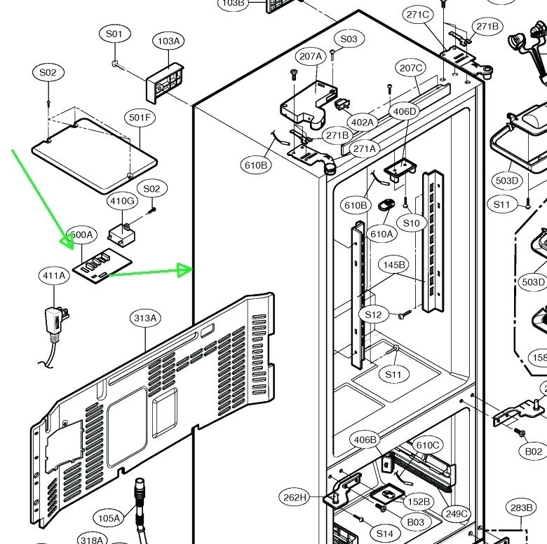 refrigerator parts kenmore elite refrigerator parts diagram