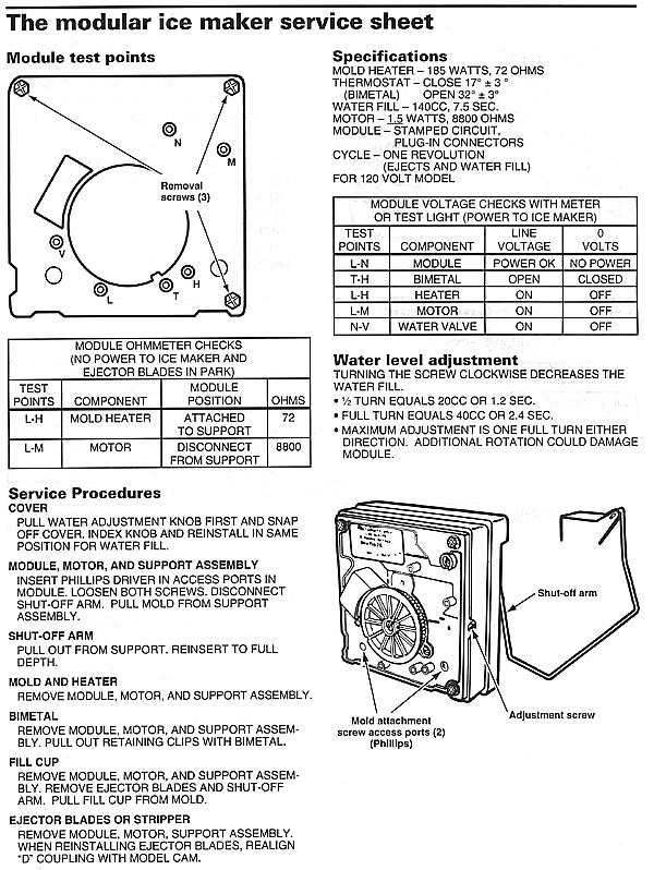 wiring diagram for kenmore ice maker