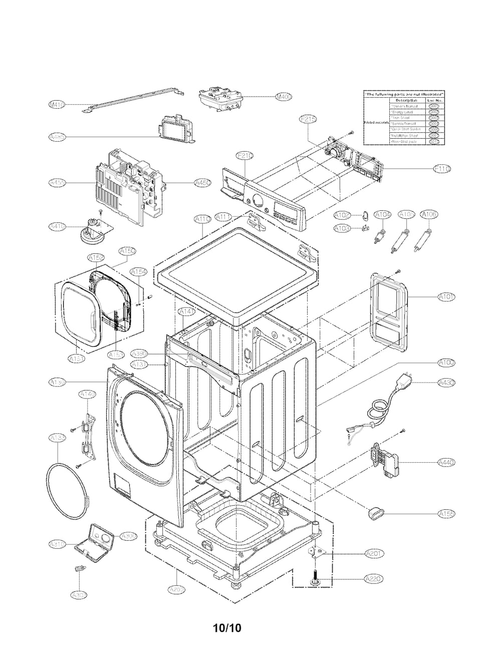 wiring diagram for front load washer