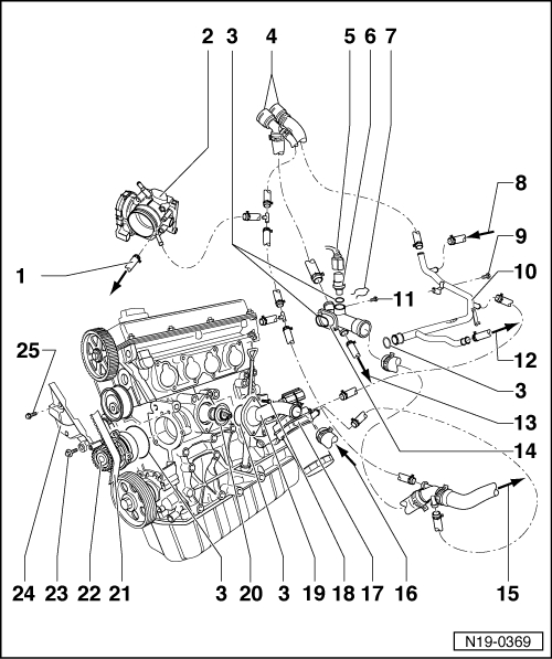 1996 volkswagon golf engine diagram