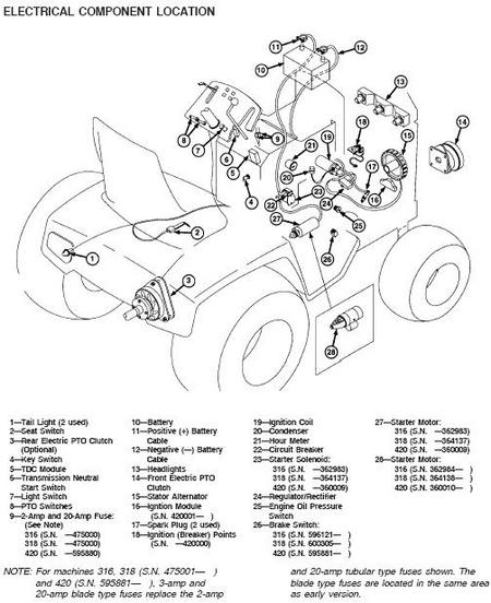 wiring diagram for john deere 111