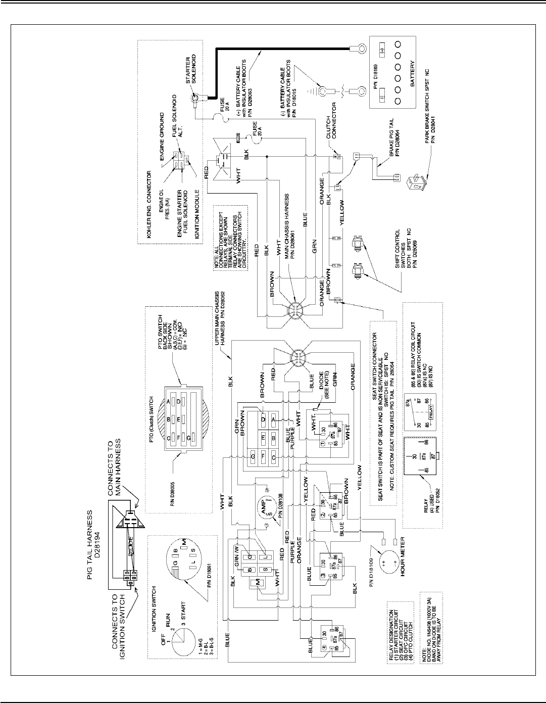 wiring diagram for cub cadet zero turn