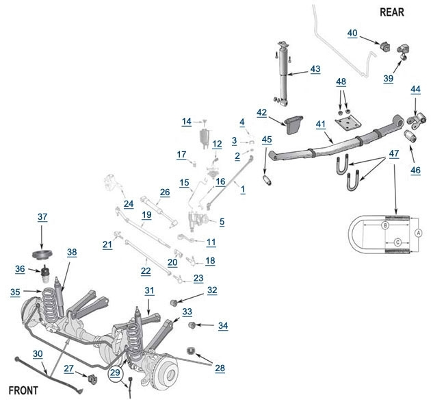 jeep front end suspension diagram as well truck suspension upgrade