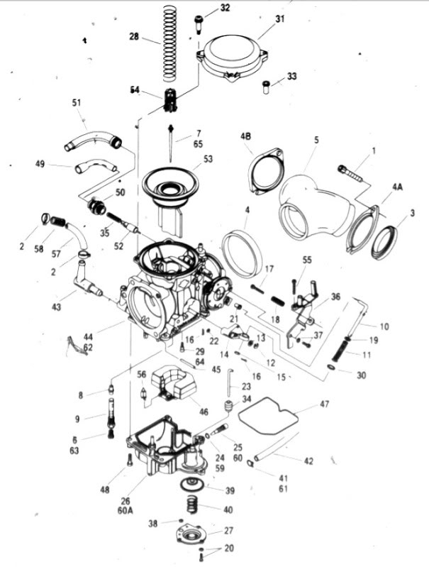 yfz carburetor diagram