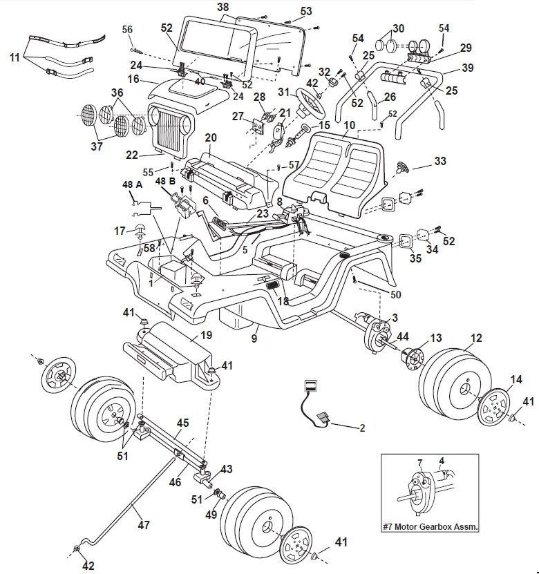 jeep motor diagram with names