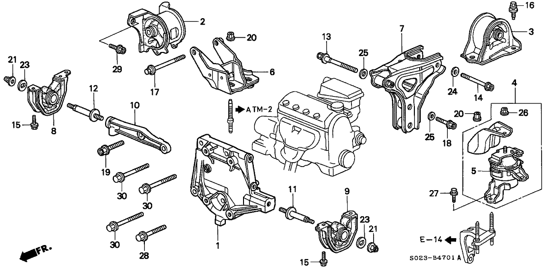 98 honda civic ex engine diagram