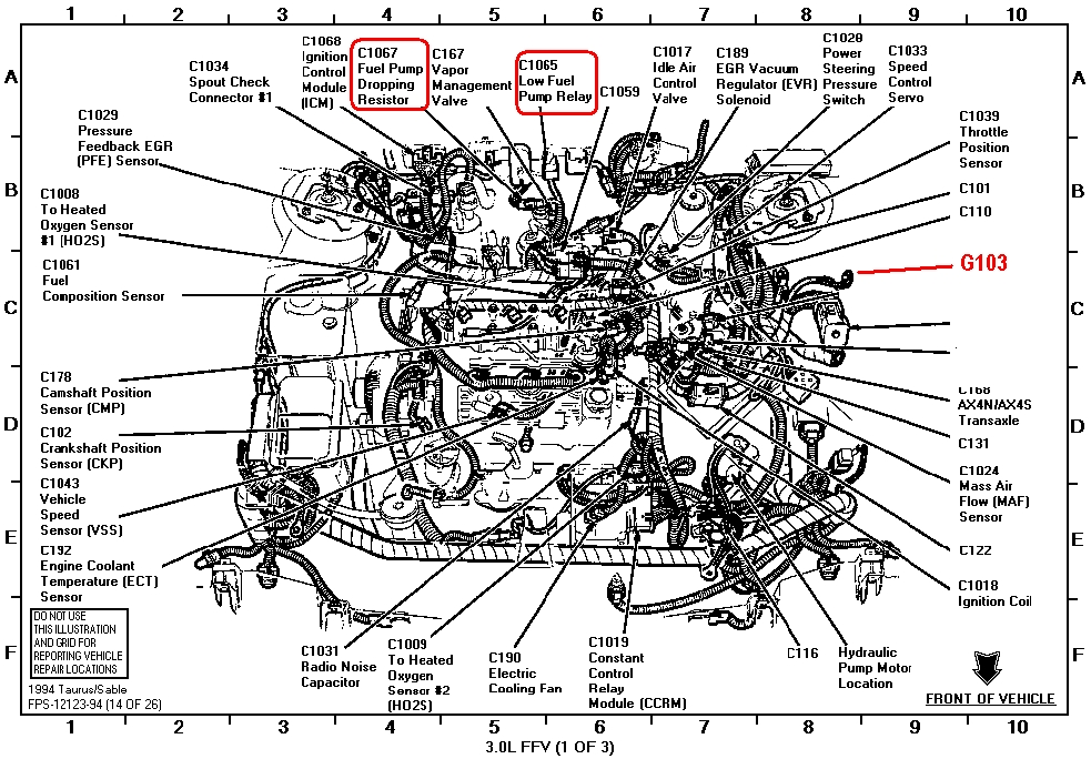 2003 ford taurus motor diagram