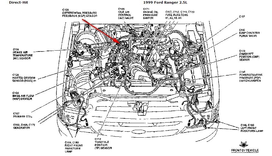 1999 ford ranger 4 0 engine diagram