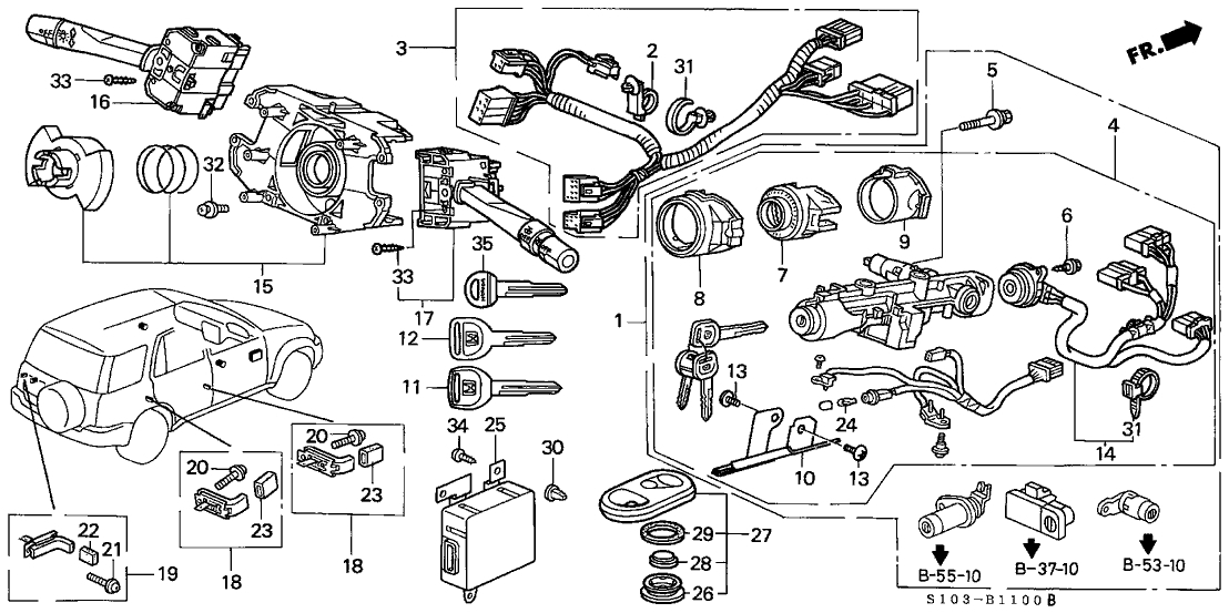fuse diagram for honda crv 2001