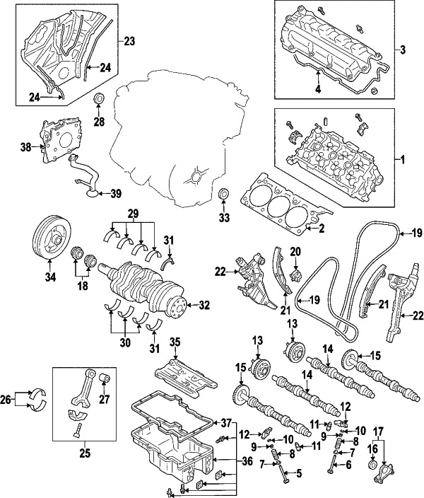 2004 mazda 3 2.3 engine diagram