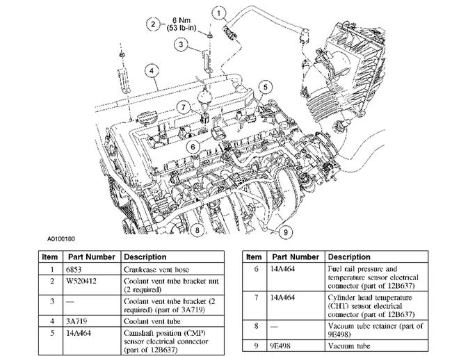 2001 ford escape v6 engine diagram