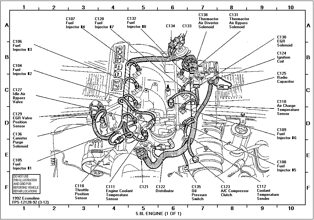 1991 1998 ford explorer Motor diagram
