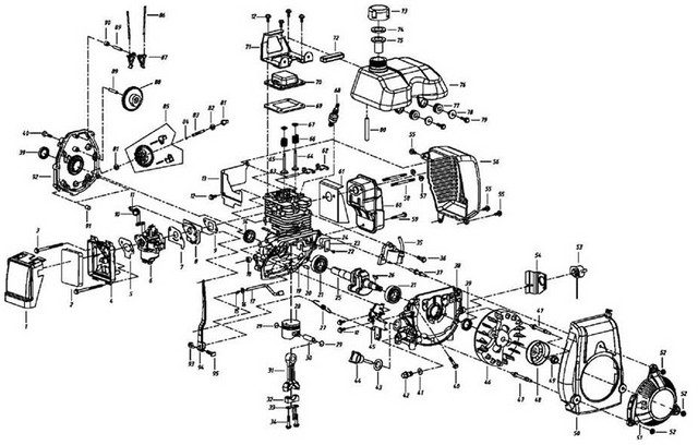 4 stroke bike engine diagram