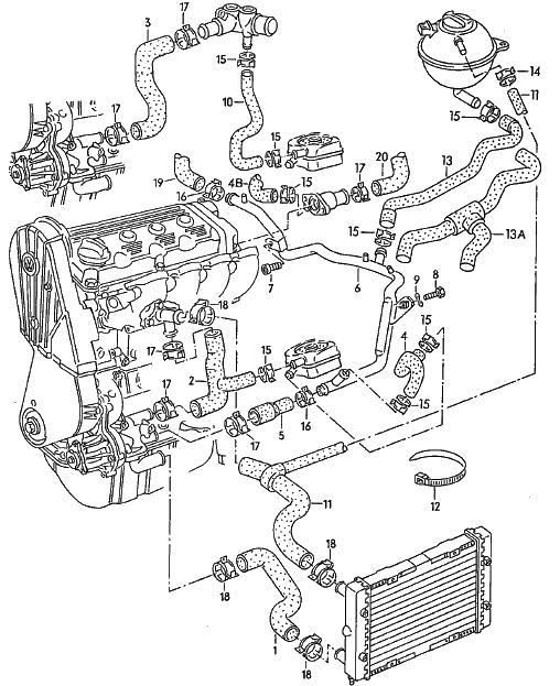 vw engine 3d diagram