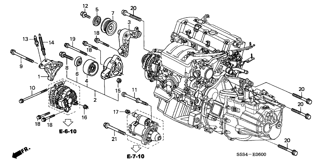 2009 honda civic lx engine diagram