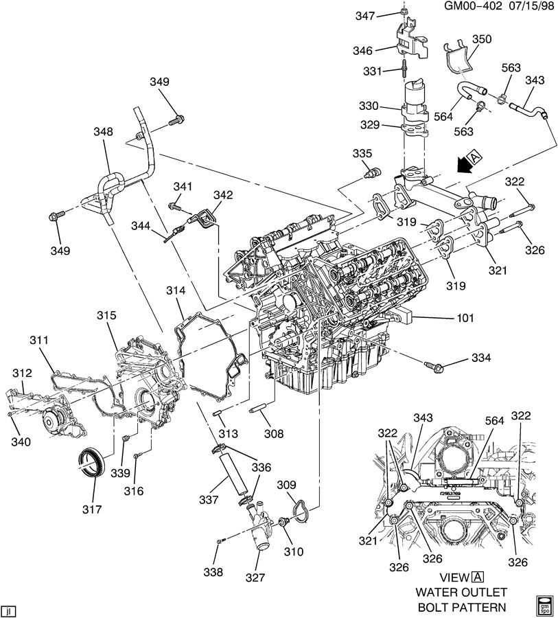 oldsmobile 3 5l engine diagram