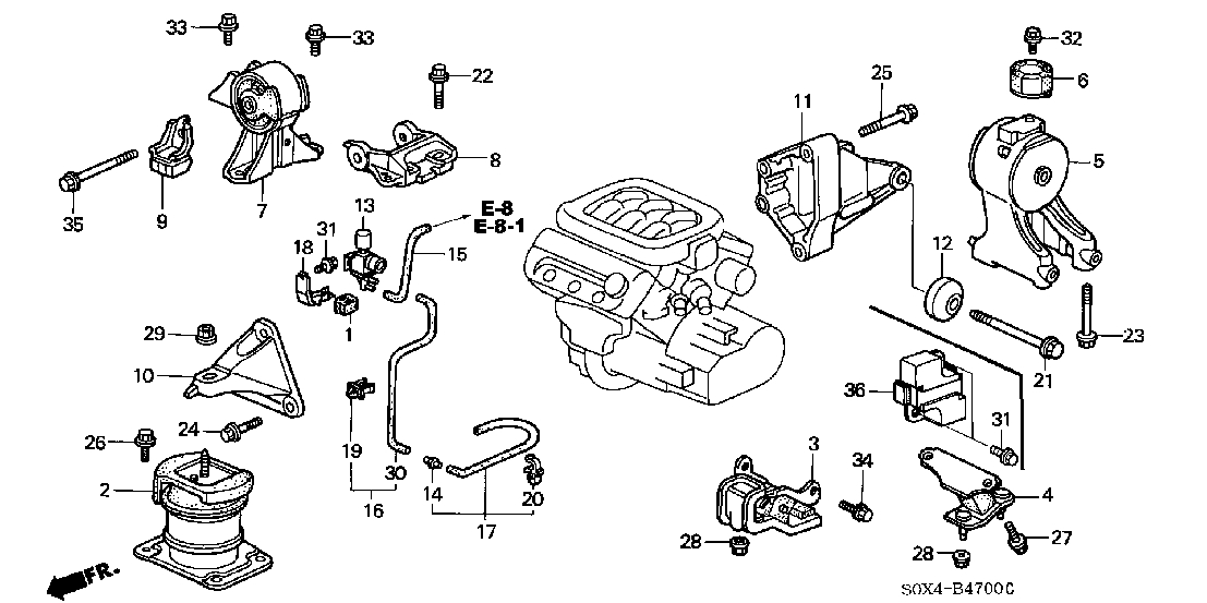 2006 honda odyssey engine parts diagram