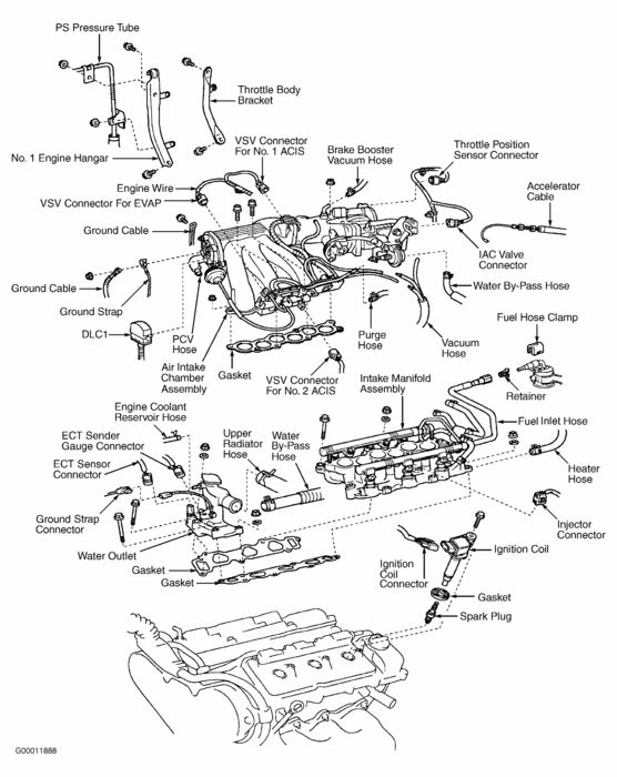 lexus 300 engine diagram