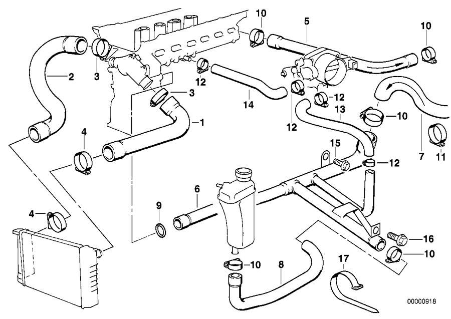 2000 bmw 328i engine diagram radiator