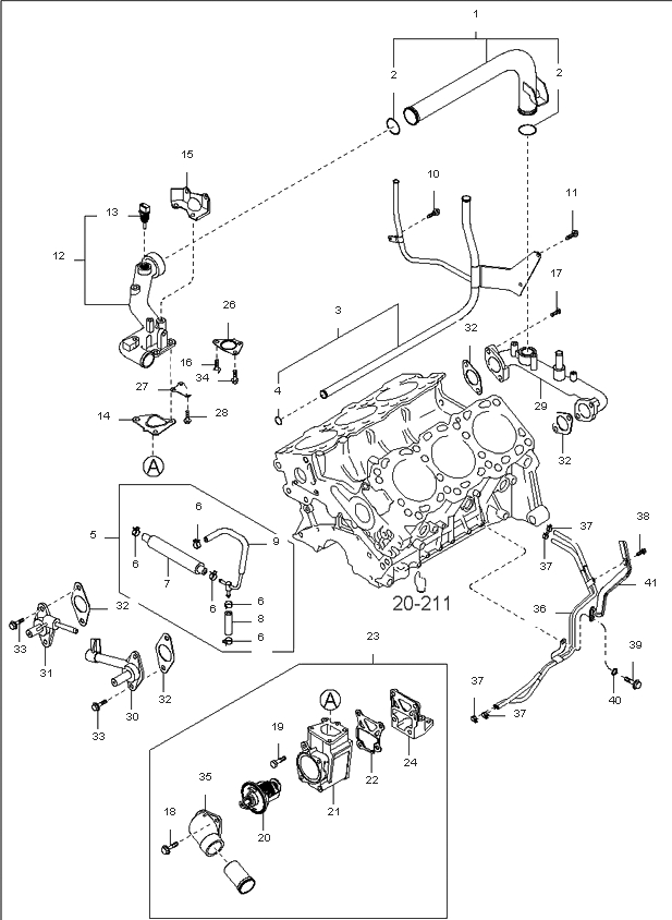 2005 kia sorento engine diagram