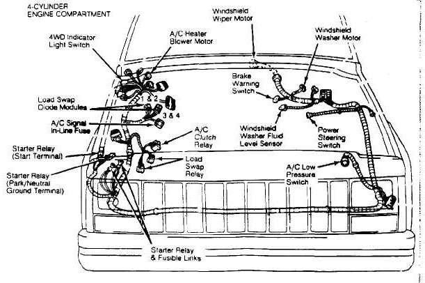 jeep jk engine bay diagram