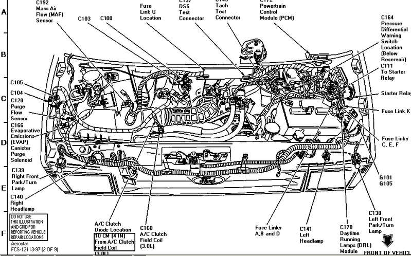 1996 ford aerostar engine diagram