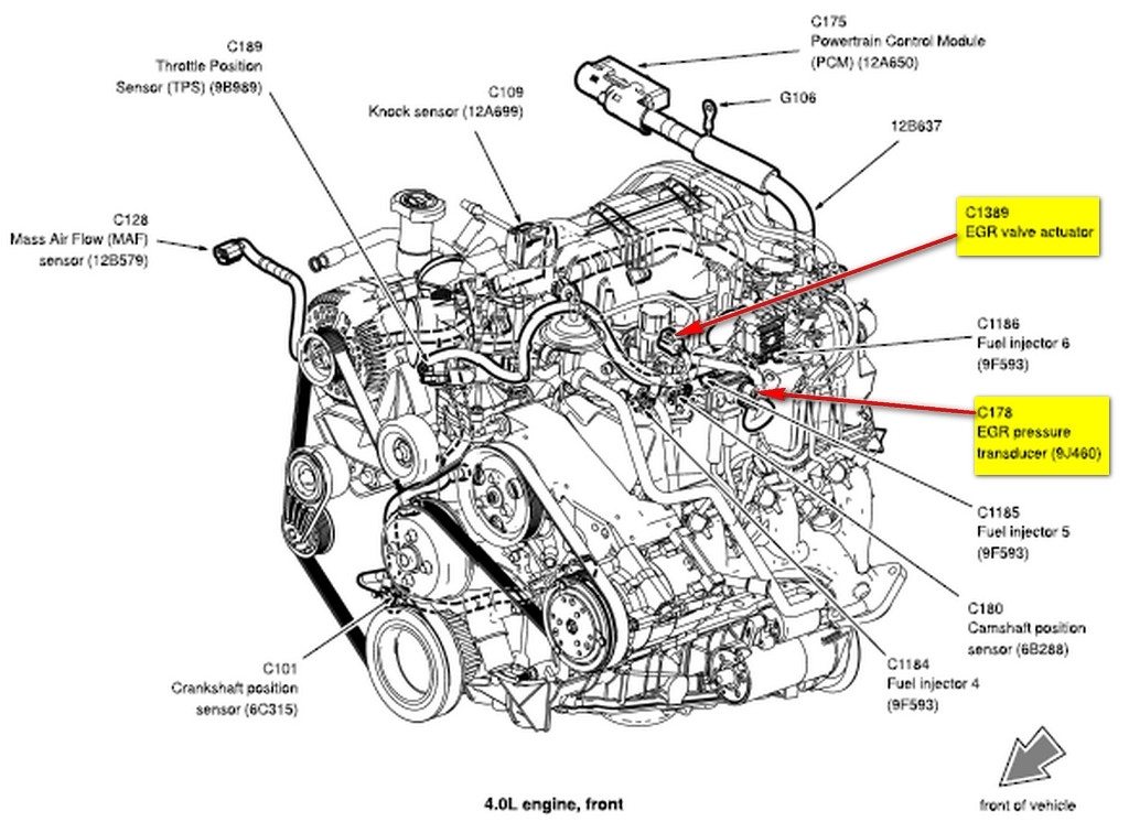 2010 ford 4 0 engine diagram