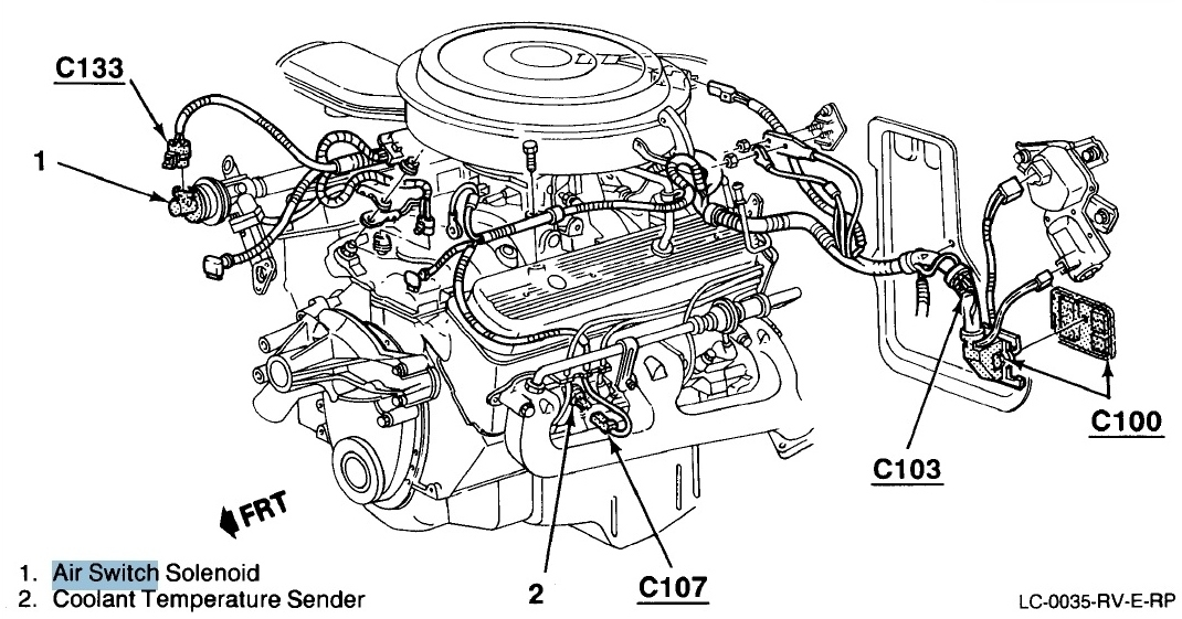 1987 chevy 5 7 engine diagram