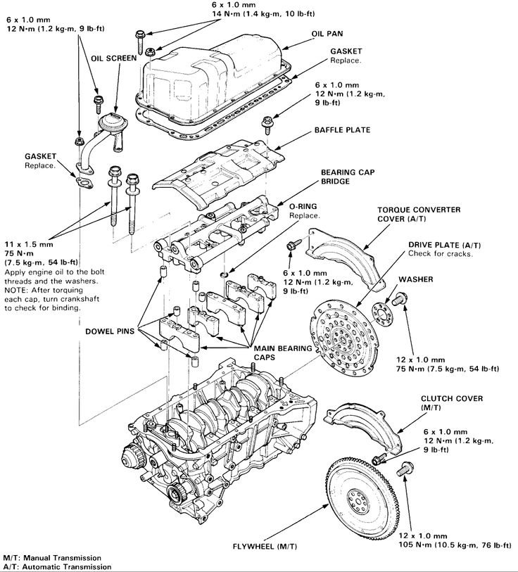 93 honda accord engine diagram