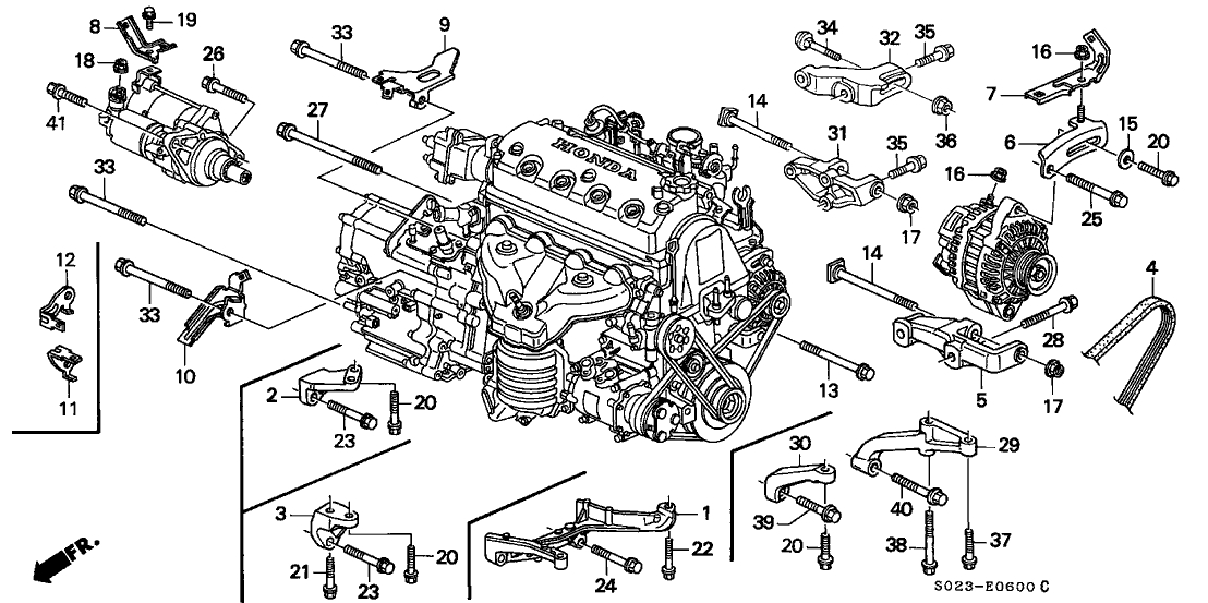 1998 honda accord Motor diagram
