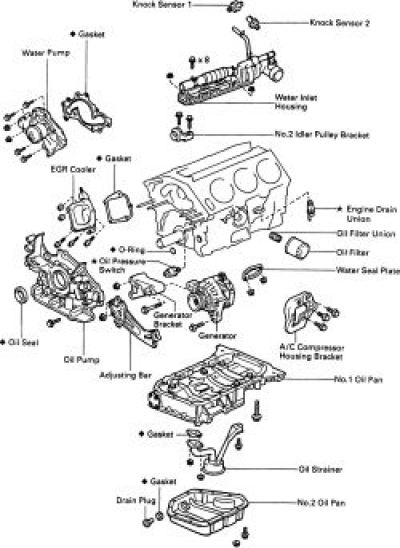 toyota camry le engine diagram