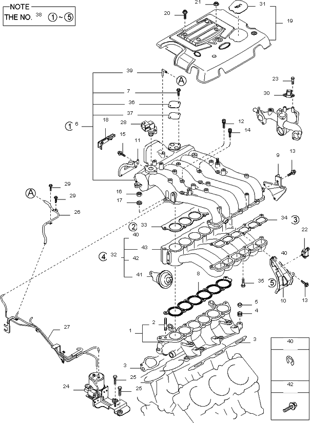 2006 kia sorento engine diagram vacuum hose