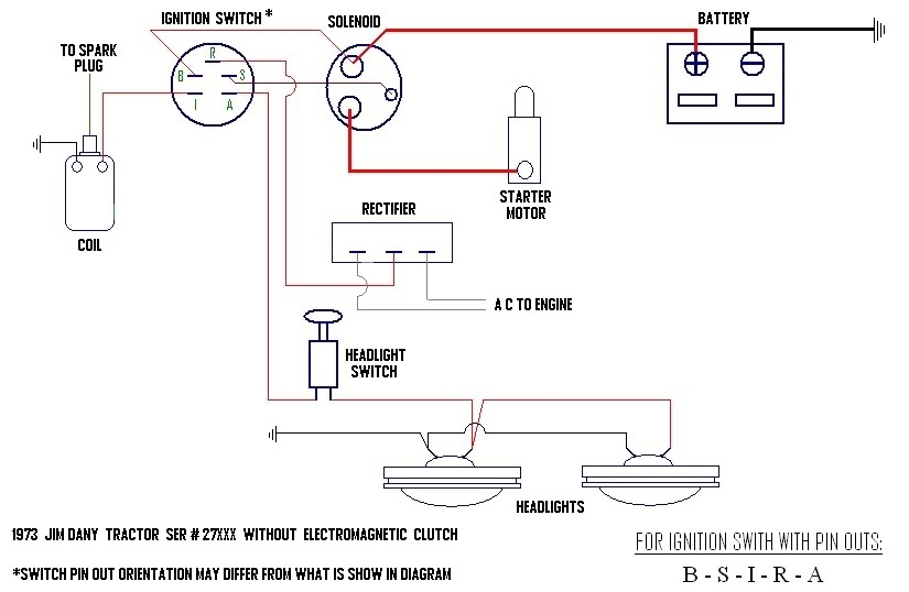 riding mower ignition switch wiring diagram