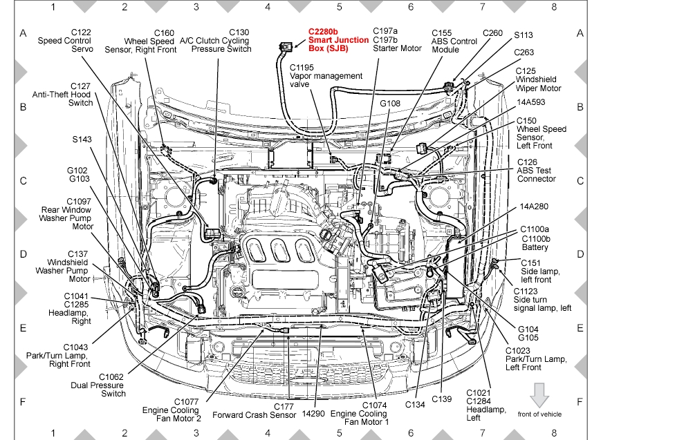 2007 ford fusion engine diagram