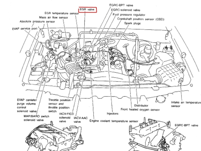 2000 nissan maxima engine parts diagram