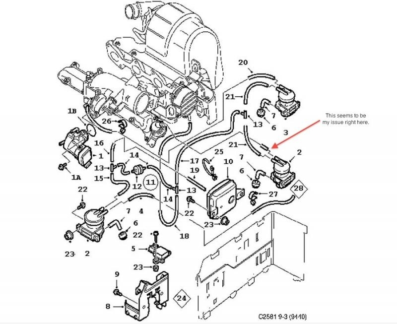 saab engine diagram 9 5 inches