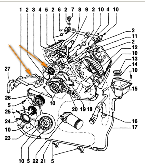 passat engine diagram