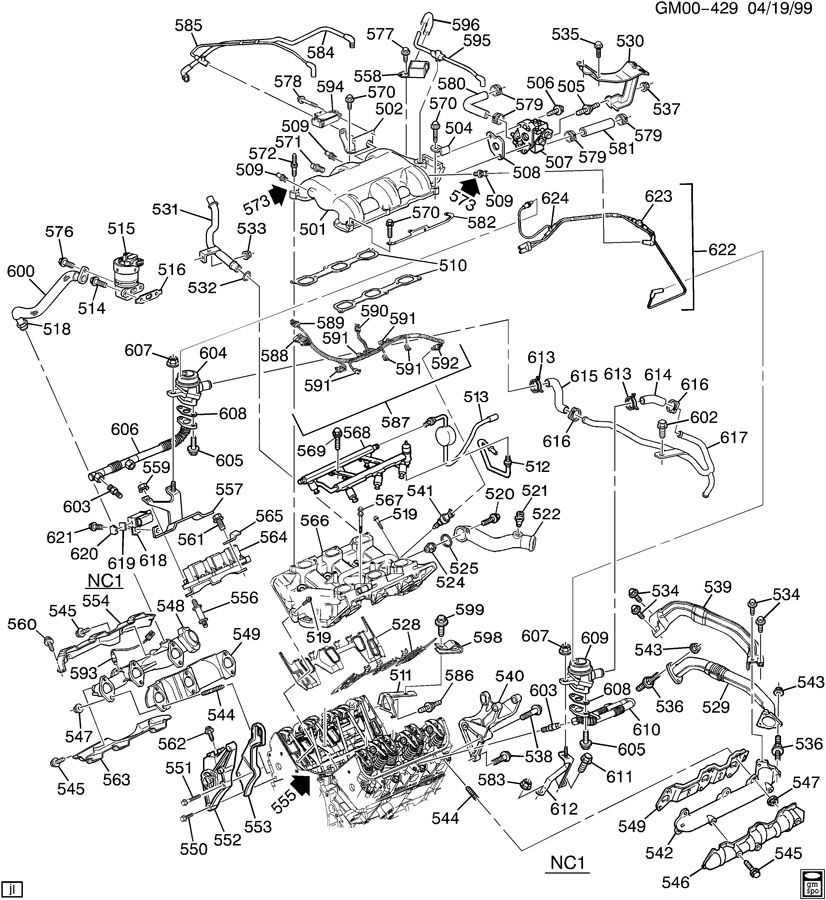 2007 buick rendezvous engine diagram