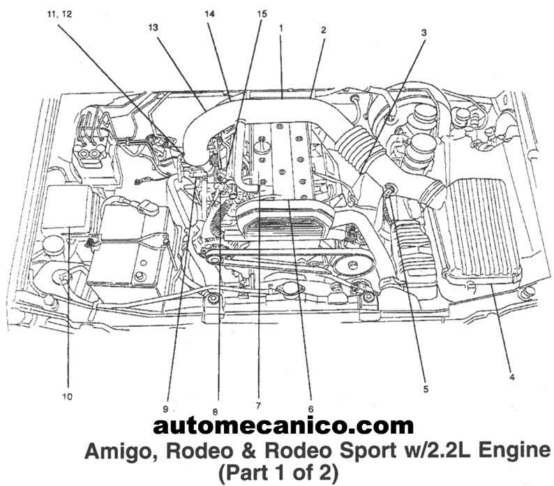 2001 isuzu rodeo engine diagram