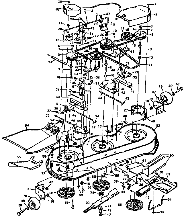 murray 425303x92b parts list and diagram