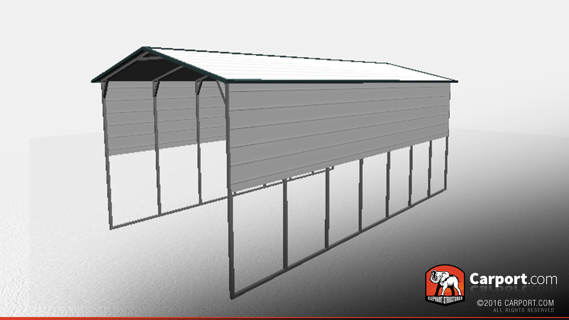 Zeichnung Carport 16 X 30 X 12 Rv Carport With Extra Panels