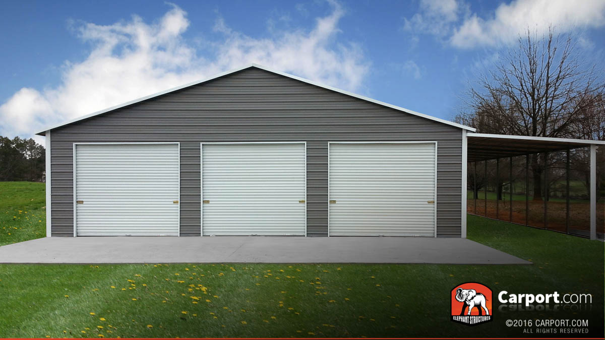 Garage Storage Buildings Custom Three Car Garage 42 Wide X 31 Long X 8 High